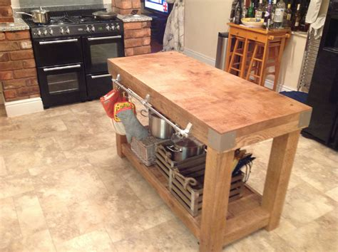 kitchen island table with storage large oak butchers block kitchen island table