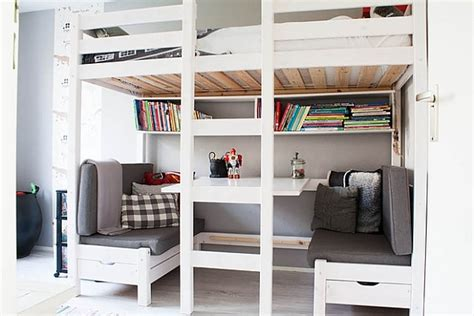 lit avec bureau intégré lit mezzanine avec bureau intégré 29 idées pratiques
