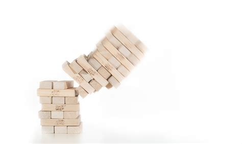 Jenga | Jenga blocks falling. two strobes, white ...