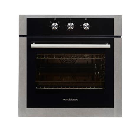 nordmende black stainless steel single fan oven grill