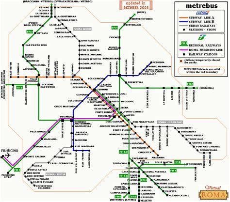 termini station map rome map  romes subway