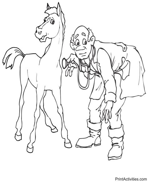veterinarian coloring pages coloring home