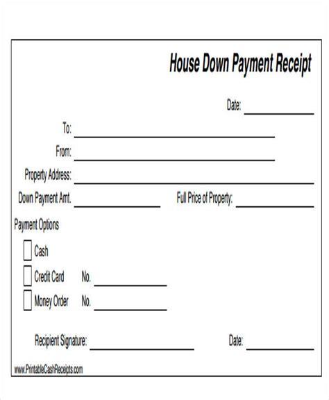down payment receipt form 43 sle receipt templates sle templates