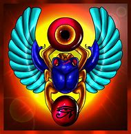 Ancient Egyptian Scarab Beetle Drawing