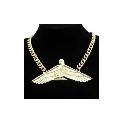 Goddess Isis Egyptian Necklace Ankh Jewelry Chain