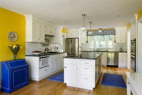blue kitchen decorating ideas how to design a yellow blue kitchen