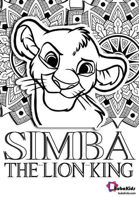 simba face mandala coloring printable  bubakidscom
