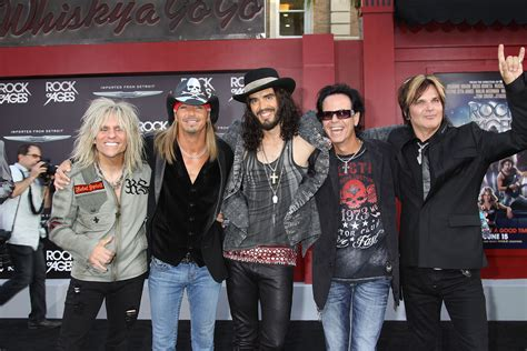 russell brand rock of ages russell brand and poison at the world premiere of rock of