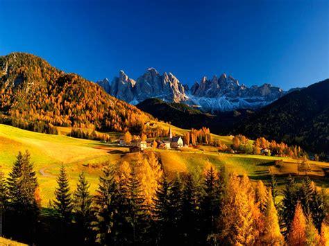 mountain village  autumn wallpaper allwallpaperin