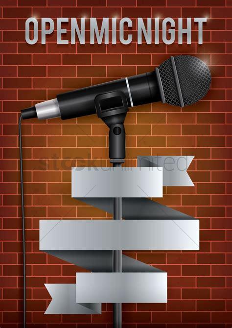 foto de Open mic night poster design Vector Image 1974990