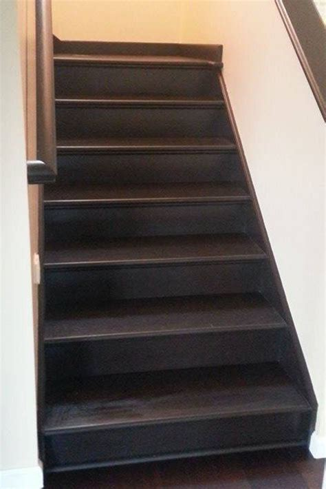 stairs refinished  java gel stain general finishes