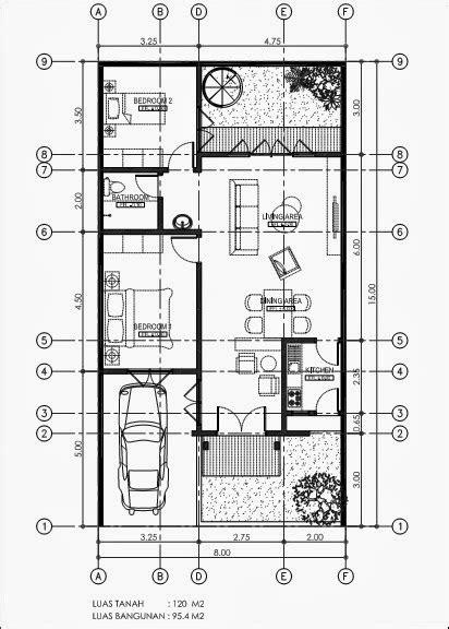 gambar denah rumah minimalis ukuran  luas