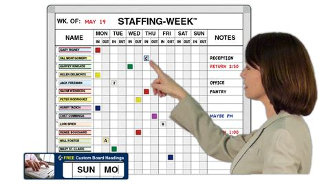 Staffing-Week In-Out Planning Boards for Staff | Magnatag