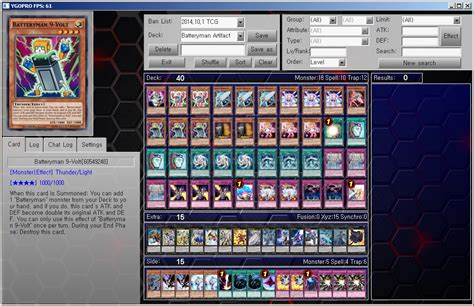 Batteryman Deck List 2017 yu gi oh ygopro deck batteryman artifact by ygopropro