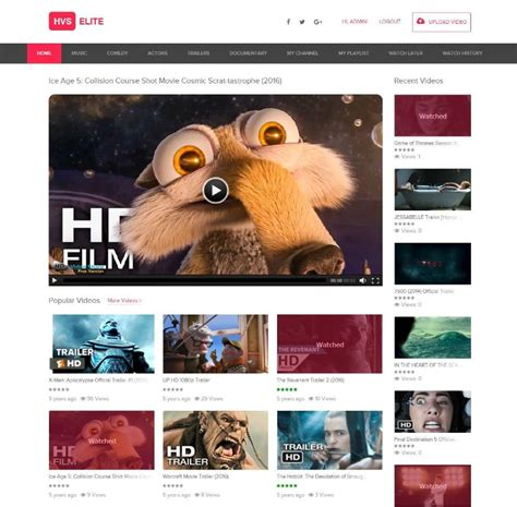 create  video sharing website  youtube apptha