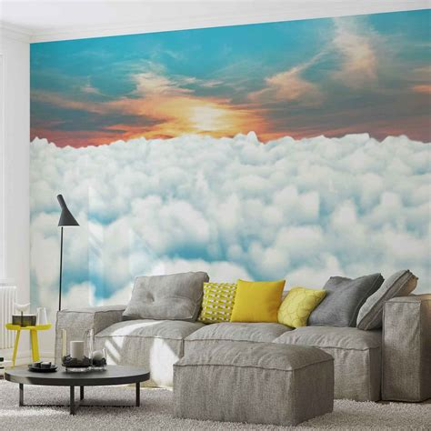 Wall Murals Sky by Sky Clouds Sunset Wall Paper Mural Buy At Europosters