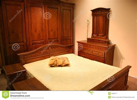 chambre a coucher en bois chambre à coucher en bois photographie stock libre