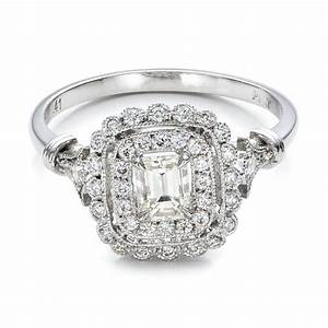 estate diamond halo engagement ring 100902 With estate jewelry wedding rings