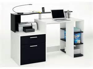 Meuble Bureau A Conforama by Bureau Oracle Coloris Blanc Noir Vente De Bureau