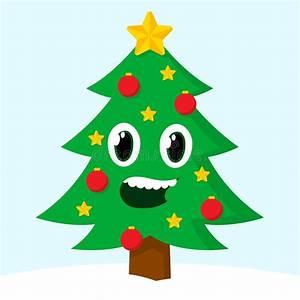 Happy Smiling Christmas Tree Stock Vector - Image: 46844744