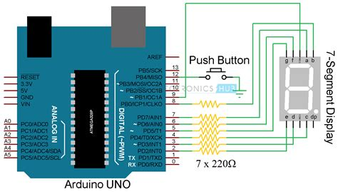 Arduino Segment Display Interface Circuit Rolling Dice