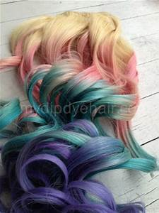 Pastel Tie Dye Hair/Blonde Ombre Extensions/Pastel Pink ...