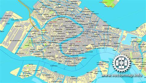 venice venezia italy printable vector street map city