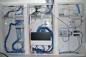 Centrally Located Home Network Wiring Closet  Allows