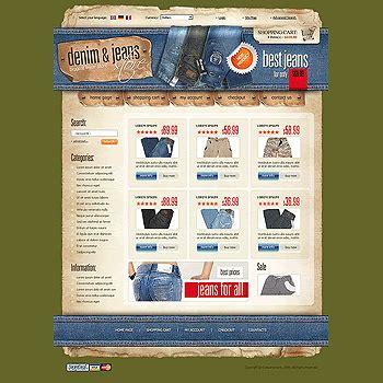 magento templates magento design  denim  jeans