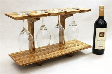 zebrawood wine glass display shelf gordgraffcom