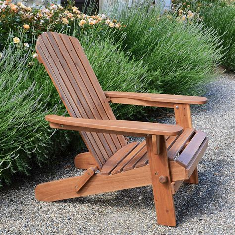 adirondack folding hardwood chair and luxury cushion by