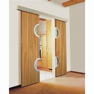 Porte Intérieur Double Vantaux : portes coulissantes 2 vantaux menuiserie image et conseil ~ Melissatoandfro.com Idées de Décoration