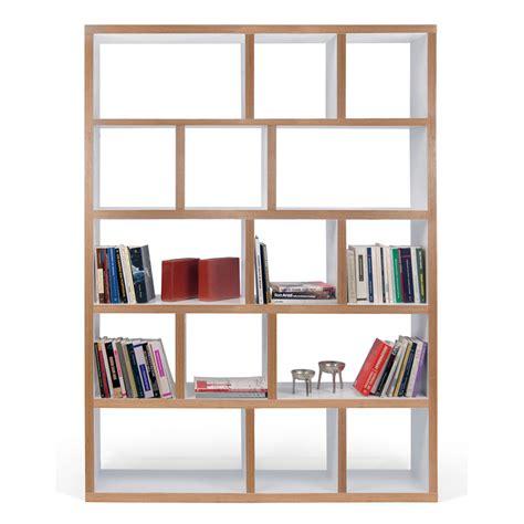 bout de canapé chêne temahome etagère bibliothèque berlin 5 niveaux 150 cm