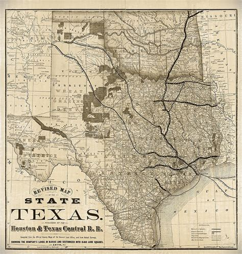 large old map of texas 1876 vintage historical wall map old west tx wall art ebay