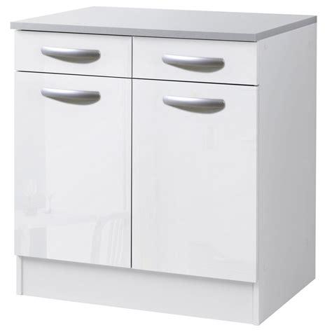 meuble bas pour cuisine meuble bas cuisine blanc laqué cuisine en image