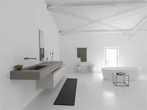 Meuble Salle De Bain Suspendu : meuble de salle de bain suspendu en c ramique kerlite mb3 ~ Melissatoandfro.com Idées de Décoration