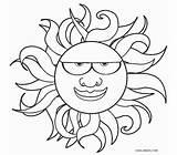 Coloring Sun Printable Cool2bkids sketch template