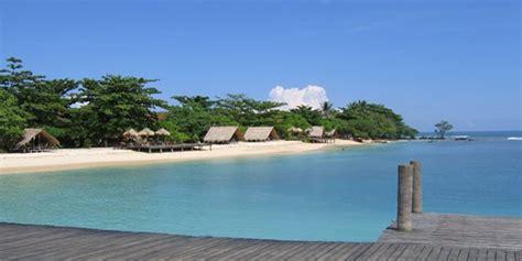 pantai indah  banten  tanjung lesung okezone