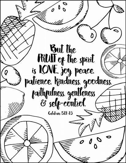 Coloring Galatians Bible Pages Verses Summer Sunshine