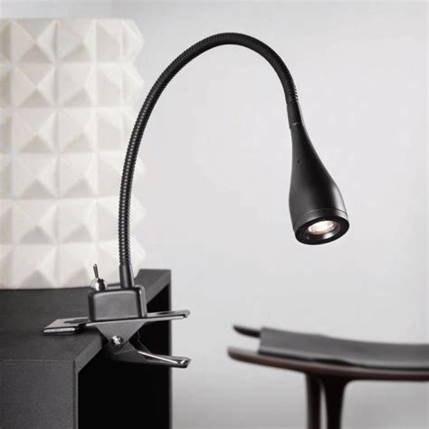 Reading Lamp With Clamp by Mento Led Clamp Light Black 75582003 163 63 54
