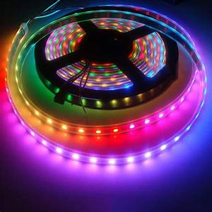 Led Stripes : ws2812b 5050 rgb flexible led strip lights 144 150 300 individual addressable 5v ebay ~ Watch28wear.com Haus und Dekorationen