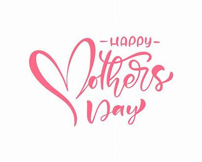 Happy Mother Text Pink Calligraphy Vector Clipart