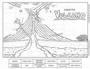 Printable Volcano Diagram    Label The Volcano Worksheet