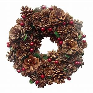 Enchante Pine Cone & Berry Christmas - Wreath - Garland