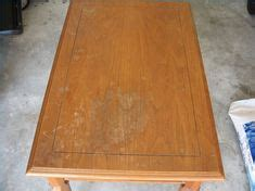 refinish  veneer table top diy table top redo