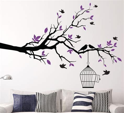 Aliexpresscom  Buy Tree Branch With Bird Cage Wall Art
