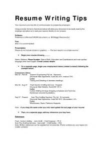 guidelines for writing a resume resume cover letter