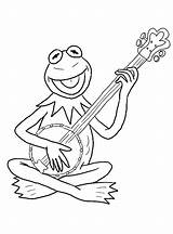 Banjo Coloring Frog Playing Pages Printable Music Game Print Kermit Categories Coloringonly Strings Aeolian sketch template