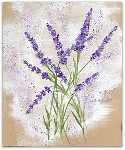 How to paint Lavender flowers with neocolor ll on ...