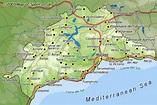 Map of Malaga region